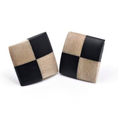 Square Wood Earrings (Assorted)
