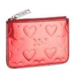 Marc By Marc Jacobs Limited Edition Heart Skinny Case Wallet Bag with Key Ring Red