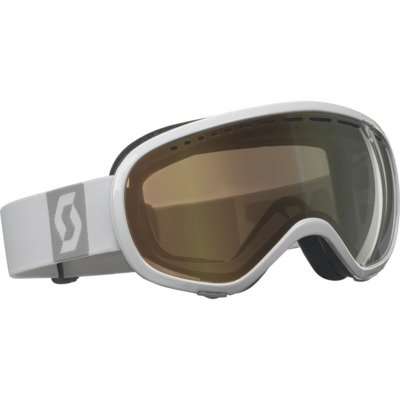 SCOTT US Off-Grid Ski Goggles, White, Light Sensitive Bronze Chrome Lens