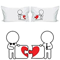 "BOLDLOFT® ""Made for Each Other"" Gay Couple Pillowcases-Gay Gifts,Valentine's Day Gifts for Gays,Gay Wedding Gifts"