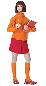 Adult Velma Scooby Doo Sexy Womens Costume Adult Halloween Outfit - Standard Dress Size 12