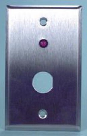 Alarm Controls Single Red Led Station Plate Brass Contacts For Single Gang Box Installations
