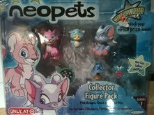 Buy Low Price Jakks Pacific Neopets Collector Figure Pack (Pink Kougra, Cloud Acara and Ona) Series 1 (B0040MGVWA)