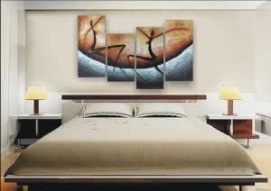 Wieco Art-Modern Abstract Art Oil Painting STRETCHED READY TO HANG OPZ-4-11