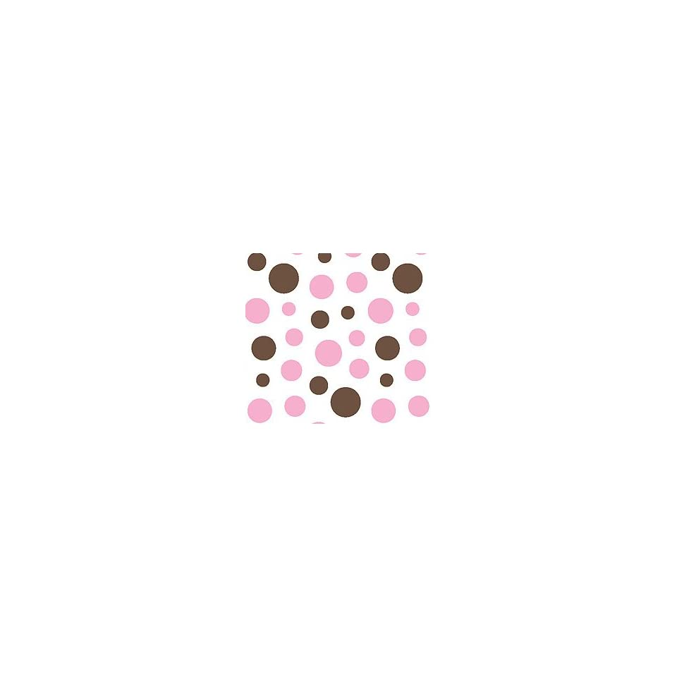 Chocolate Brown & Bubblegum Pink Polka Dot Tissue Paper   24 XL Sheets
