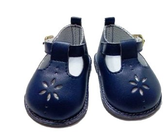 NAVY FLOWER SHOES FOR AMERICAN GIRL DOLLS