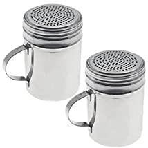 New Commercial Stainless Steel Versatile Dredge Shaker Set of 2