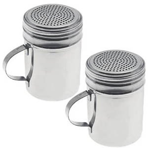 New Commercial Stainless Steel Salt / Pepper / Spice / Sugar Shaker, Shakers, Dredge, Dredges, Set of 2