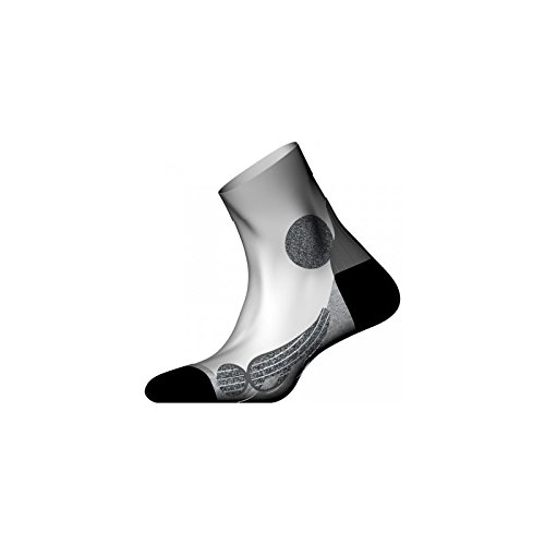 Monnet Monnet-Trail Running Expert High Perf-Calzini, colore: bianco, colore: grigio