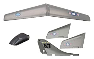 Megatech A7 Tornado Complete Main And Tail Wing Set With Canopy