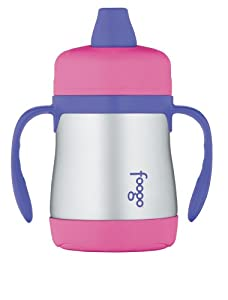 Thermos Foogo Phases Leak Proof Stainless Steel Sippy Cup, 7 Ounce, Pink/Purple by Thermos