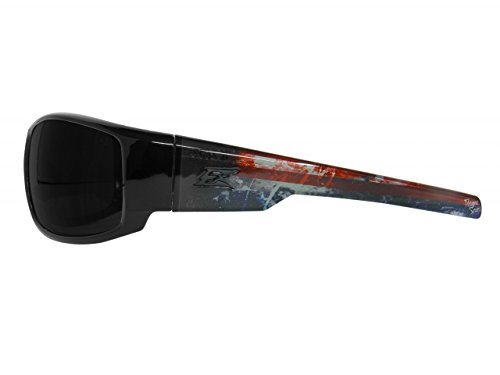 Edge Eyewear HZ116-P1 Caraz Patriot 1 Smoke Lens, Black (Edge Safety Glasses Polarized compare prices)