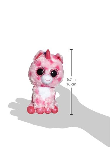 Carl-ETTO-TY-36175-Sugar-Pie-Licorne-rose-15-cm-avec-paillettes-Yeux-Glubschi-S-Beanie-Boo-S-Valentin-dition-limite