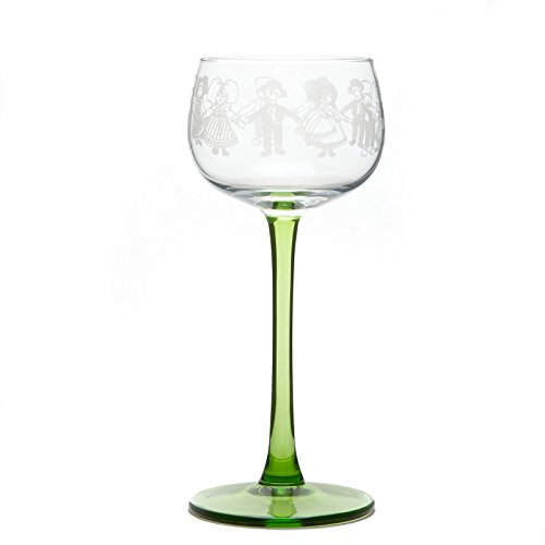 6 verres à vin blanc motif FARANDOLE