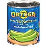 Ortega Whole Green Chiles - 27 oz. can, 12 cans per case