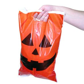 Jack O Lantern Trick Or Treat Bags; 50 Pack - 1