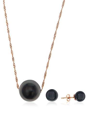 Cordoba Jewels Conjunto de collar y pendientes  plata de ley 925 milésimas bañada en oro