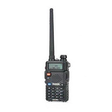 "Zcl Besttone Bst-Uv5R 1.5"" Lcd Dual Band Dual Display Walkie Talkie W/ Fm Radio - Black"