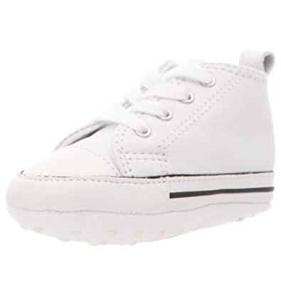 Converse Chuck Taylor All Stars Crib Kids Baby Shoes UK 2 (Infant) White