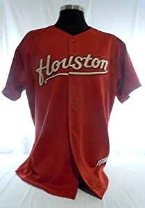 Houston Astros Authentic Majestic Red Jersey with 2005 World Series Patch by Your Sports Memorabilia Store