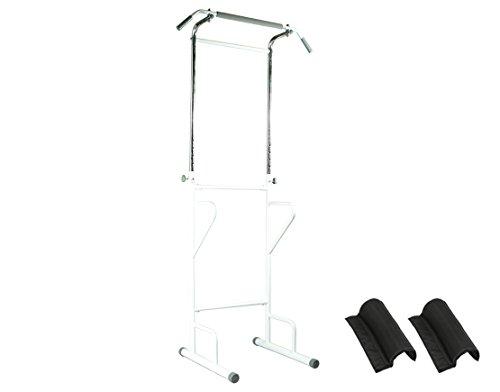 PURE RISE(ピュアライズ) ぶら下がり 健康器 背筋伸ばし 懸垂 腕立 筋トレ 物干しフック付 ホワイト