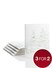 5 Luxury 3D Tree Christmas Multipack of Cards