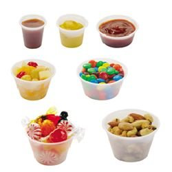 5.5 OZ. TRANSLUCENT PLASTIC SOUFLE CUPS 20/250