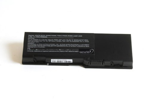Techorbits� replacement battery for Dell Inspiron 1501 6400 E1505 Latitude 131L Vostro 1000,fits 312-0461 312-0466 312-0599 451-10338 451-10424 GD761 RD859 UD267 XU937 6 cubicle
