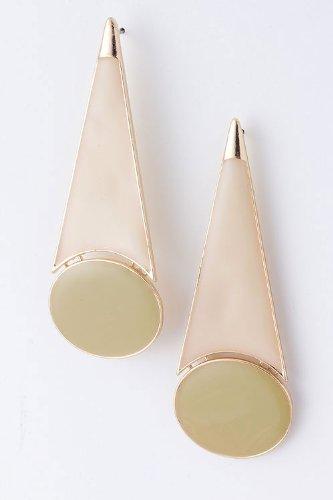 Karmas Canvas Geometric Cone Earrings (Beige) front-587003