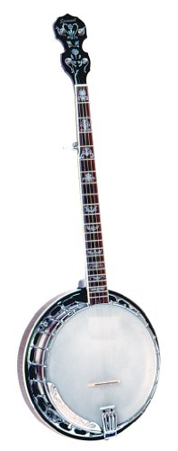Savannah Cast Brass Tone Ring Banjo w/ Free CD & Tuning Chart