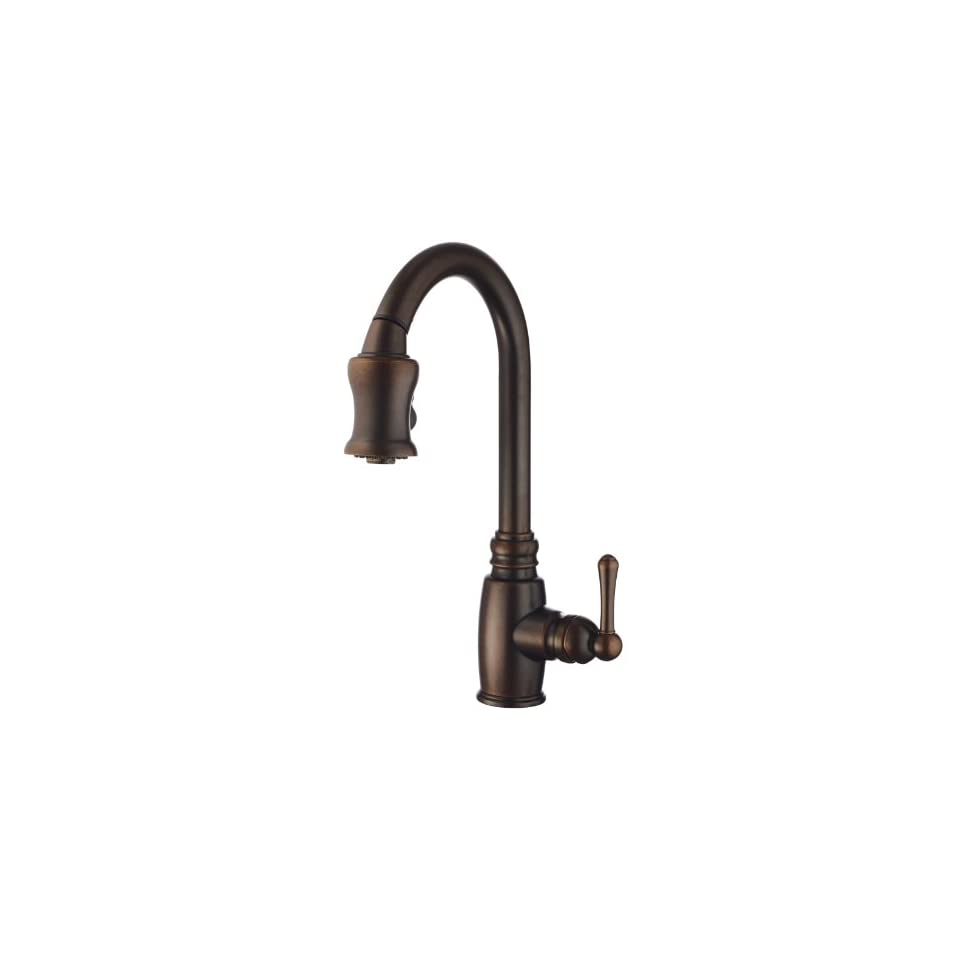 Danze D454557BR Opulence Single Handle Pull Down Kitchen Faucet, Tumbled Bronze