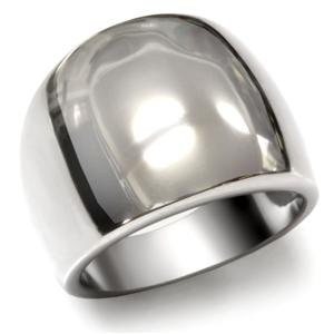 STAINLESS STEEL RING - Simple Modern Dome Style Ring