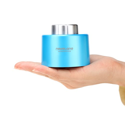 Newisland Mini Portable USB Bottle Cap Air Humidifier for Office Home (Blue)