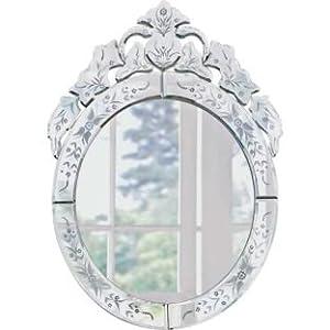 Venetian Oval Wall Mirror - Silver (662330399)