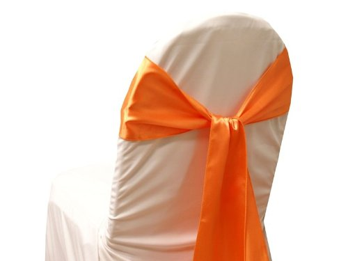10 New Satin Chair Sashes Bows Ties - Wedding