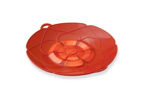 Kuhn Rikon Kochblume Spill Stopper, Small, 10-Inch, Red Color: Red Size: 10-Inch Home & Kitchen
