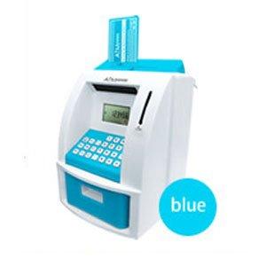 『ATMメモリーバンク(貯金箱)ブルー』カードと暗証番号で楽しく貯金!