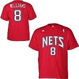 New Jersey Nets Deron Williams Gametime Red Adidas T Shirt (Medium)