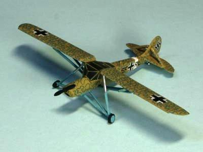 ドイツ軍 シュトルヒ ストール機  二色迷彩(グリーン・イエロー)