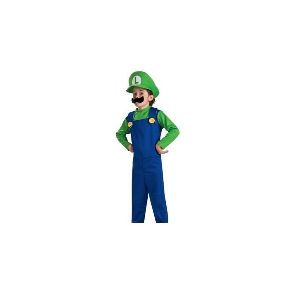 Super Mario Luigi Childrens Costume Size X Large (14 16)