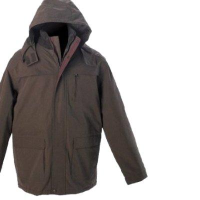 Mens Brown Tayberry Waterproof Rain-Coat Padded Winter Mack-Jacket
