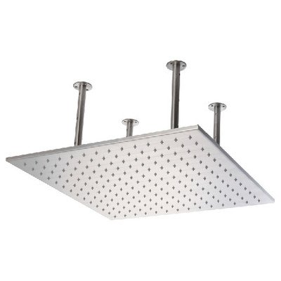 "23/""x31/"" Polished Stainless Steel Ceiling Mounted LED Rain Shower System"