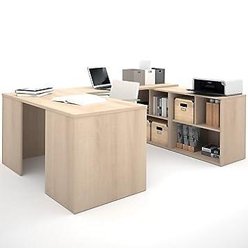 i3 Reversible U-Desk With Cubbies (Tuxedo)