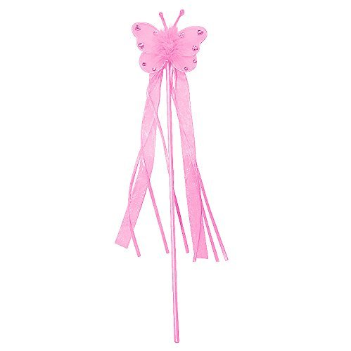 Light Pink Jeweled Butterfly Fairy Princess Wand