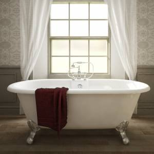 Trueshopping Double Ended Freestanding Roll Top Bath Large Claw