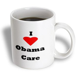 Mug_163733_1 Florene Numbers Symbols And Sayings - Image Of I Love Obama Care With A Heart - Mugs - 11Oz Mug