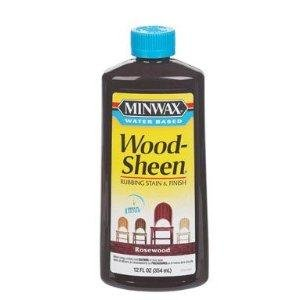 Minwax 30451 12-Ounce Water Based WoodSheen Wood Stain, Rosewood