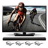 "Lg 47Lm4700 47"" 1080P 120Hz Led 3D Tv W/ Soundbar"