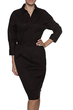 hugo boss black shirt dress daria color black size 40 clothing. Black Bedroom Furniture Sets. Home Design Ideas