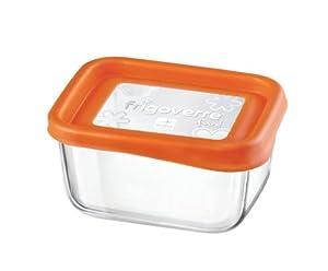 Bormioli+Rocco Bormioli Rocco Frigoverre Fun Square Glass Container with Orange Lid, 25-1/2-Ounce at Sears.com